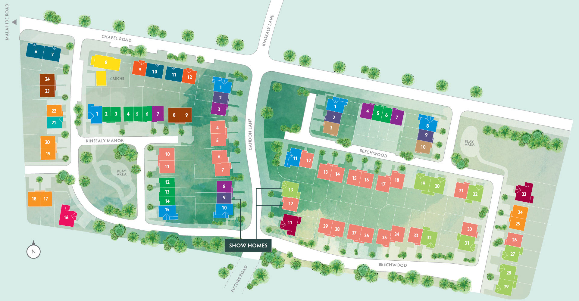 Kinsealy Woods Site Map
